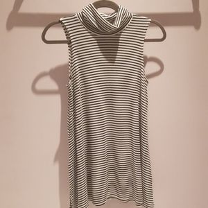 Roll neck striped top from Anthropologie
